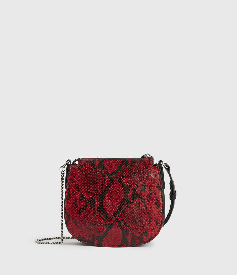 Donne Borsa Ely Rnd (Piccola) - In pelle con stampa pitone (red) - Image 6