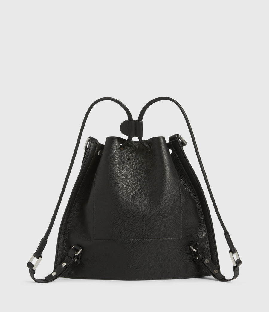 Womens Lear Leather Backpack (black) - Image 7