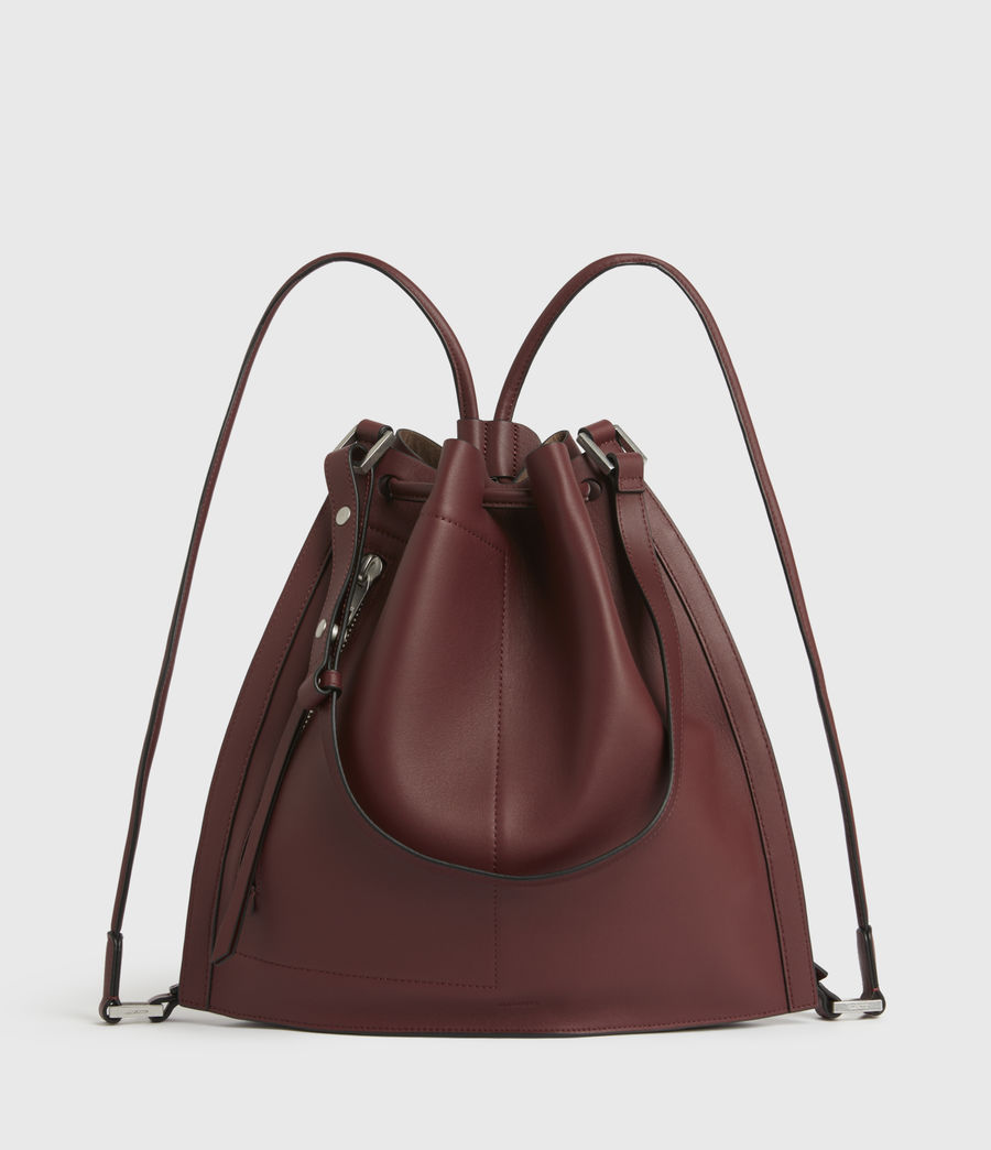 Womens Lear Leather Backpack (burnt_sienna_red) - Image 1