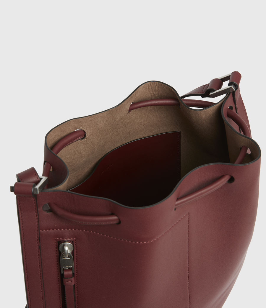 Womens Lear Leather Backpack (burnt_sienna_red) - Image 2