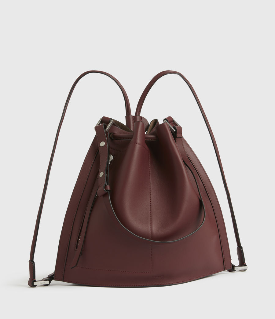 Womens Lear Leather Backpack (burnt_sienna_red) - Image 3