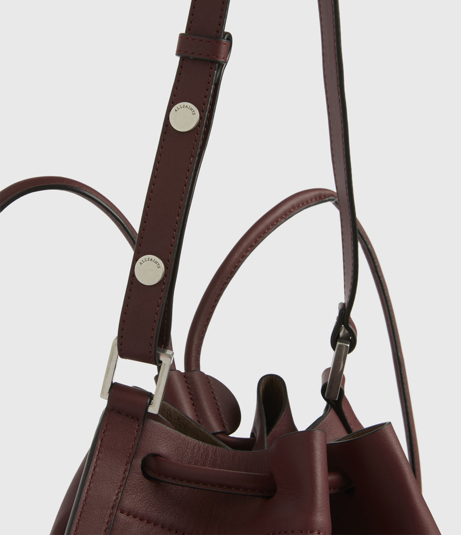 Womens Lear Leather Backpack (burnt_sienna_red) - Image 5