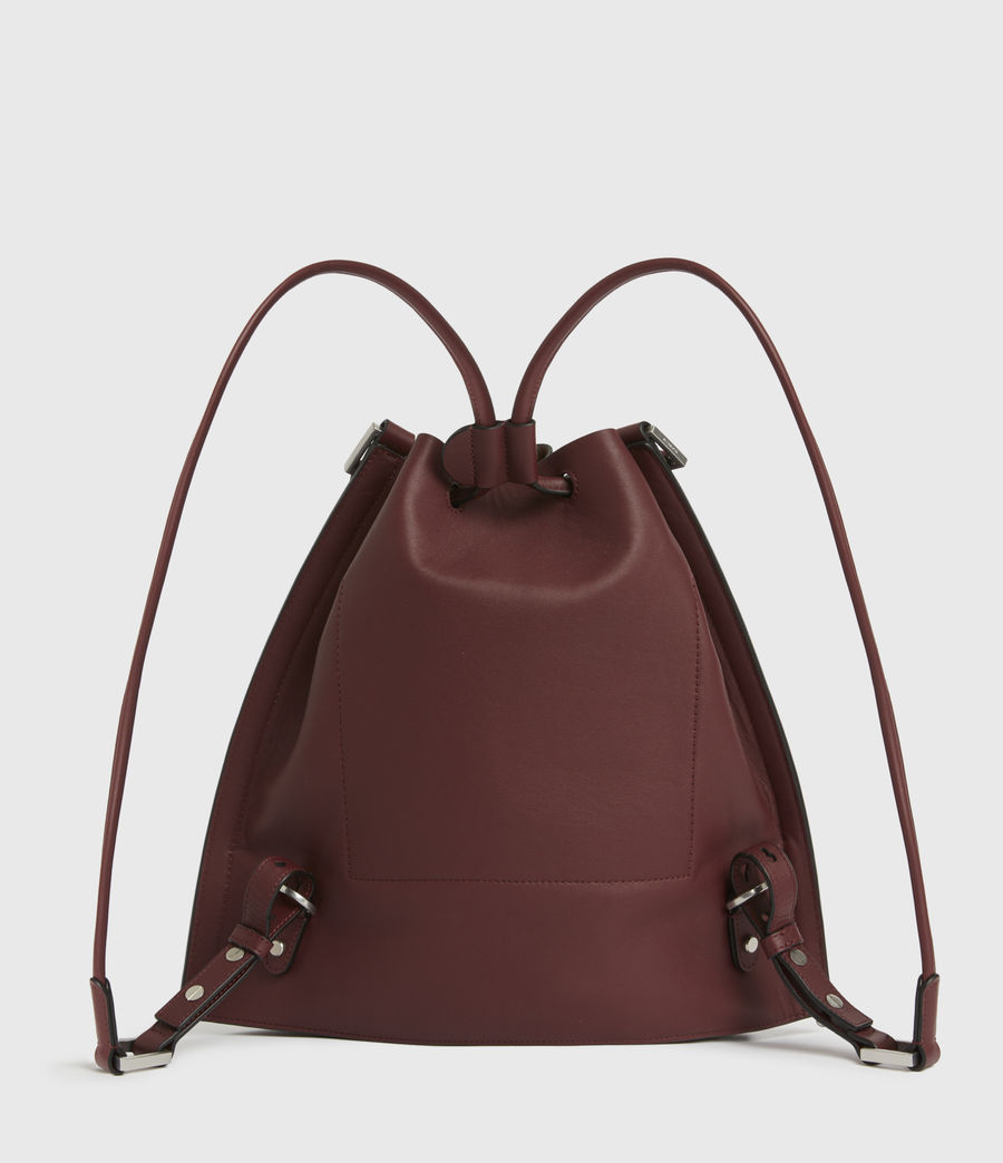 Womens Lear Leather Backpack (burnt_sienna_red) - Image 6
