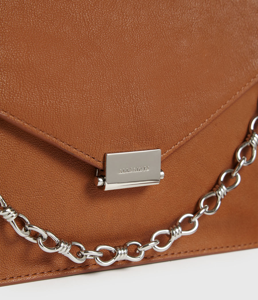 Womens Miki Leather Crossbody Bag (tan) - Image 5