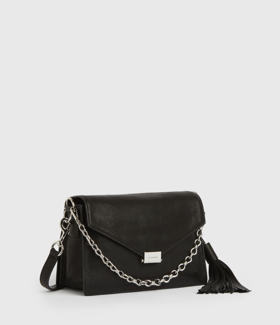 Womens Miki Leather Crossbody Bag (black) - Image 3