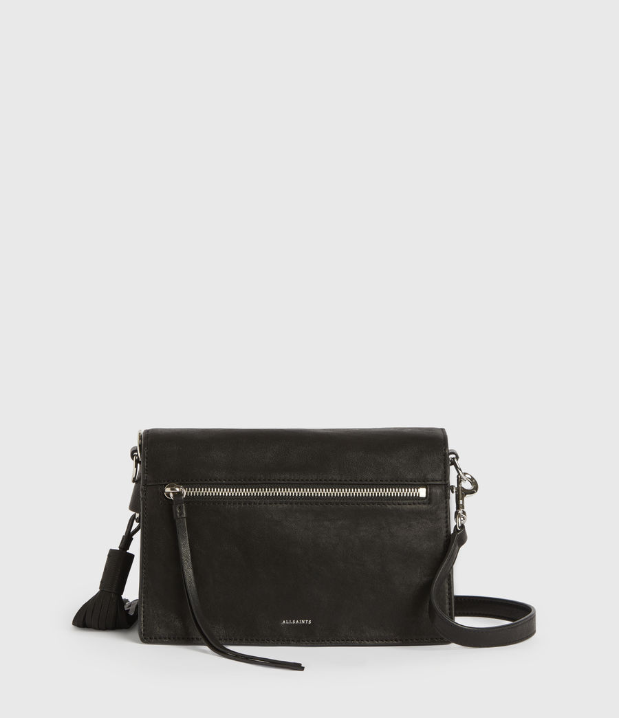 Womens Miki Leather Crossbody Bag (black) - Image 7