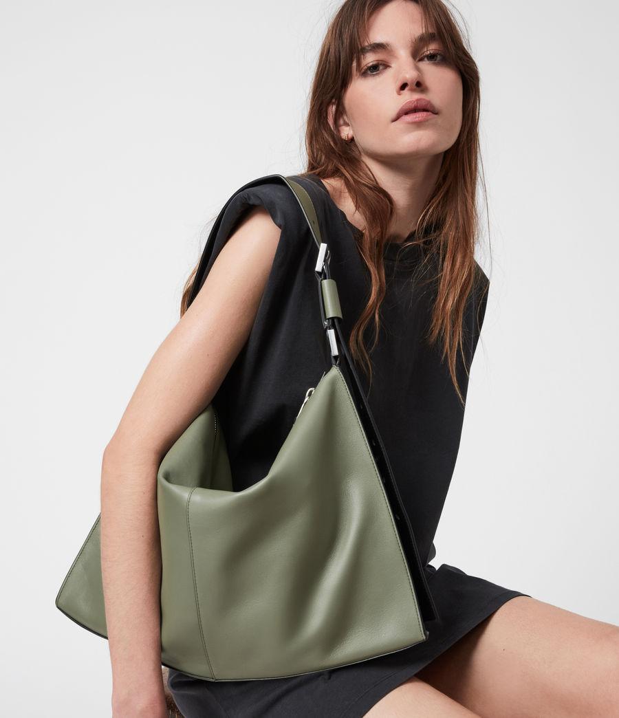 Women's Edbury Leather Shoulder Bag (sage_green) - Image 1