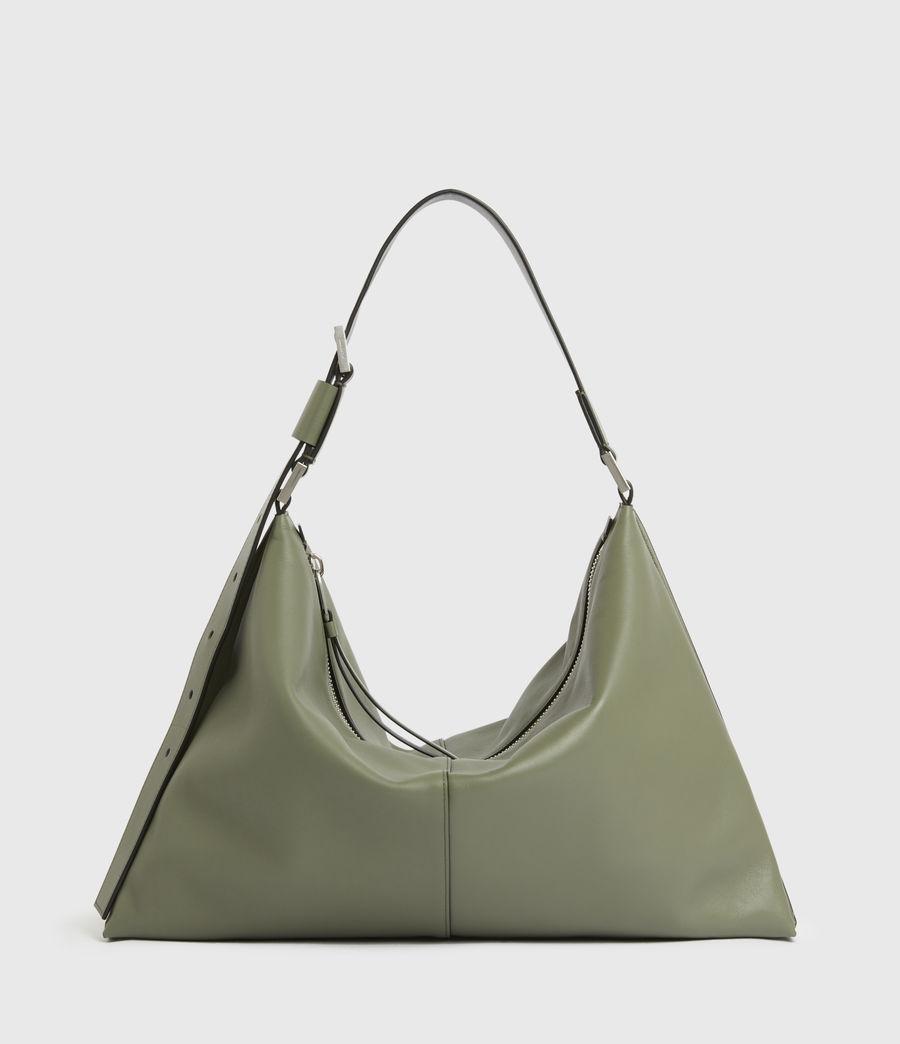 Women's Edbury Leather Shoulder Bag (sage_green) - Image 2
