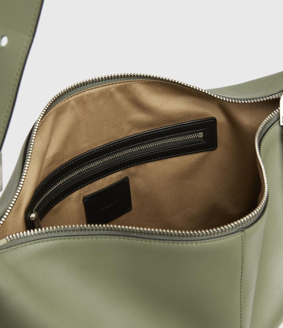 Women's Edbury Leather Shoulder Bag (sage_green) - Image 3
