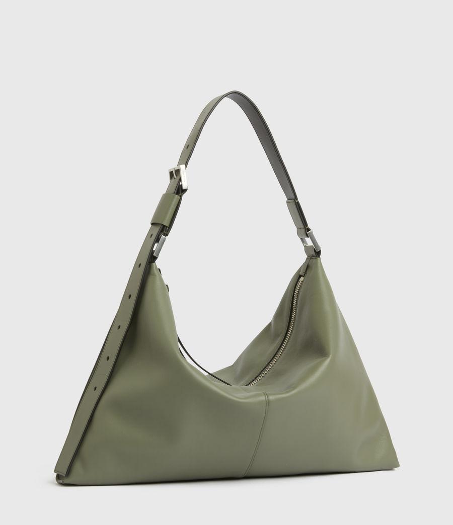 Women's Edbury Leather Shoulder Bag (sage_green) - Image 4