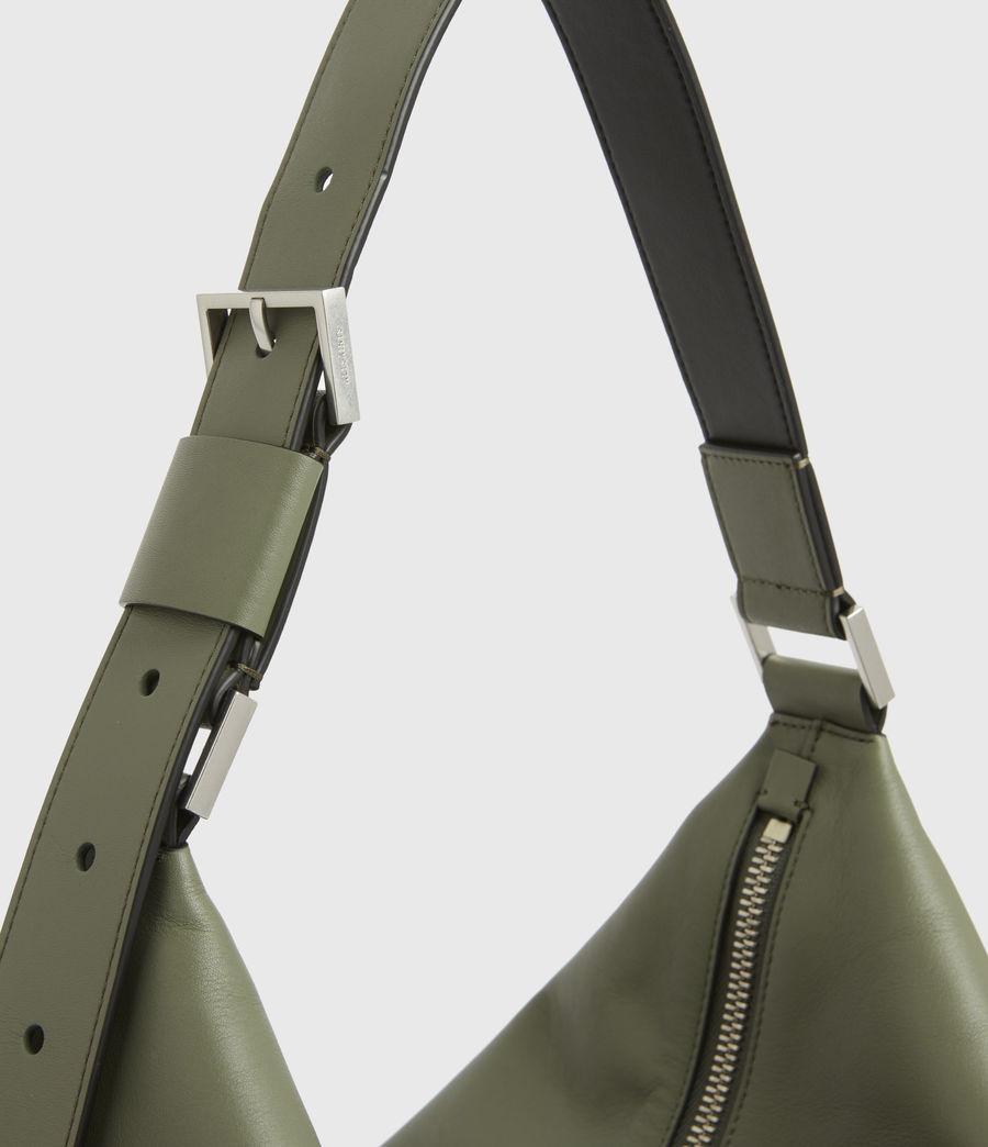 Women's Edbury Leather Shoulder Bag (sage_green) - Image 6