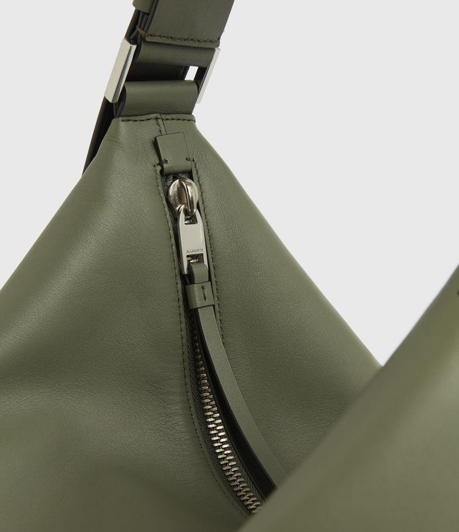 Women's Edbury Leather Shoulder Bag (sage_green) - Image 7