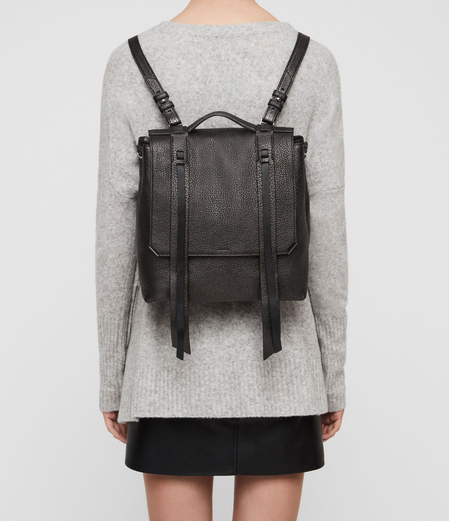 Women's Vincent Leather Backpack (black) - Image 3