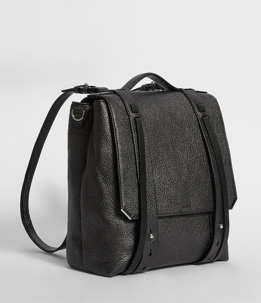 Women's Vincent Leather Backpack (black) - Image 4