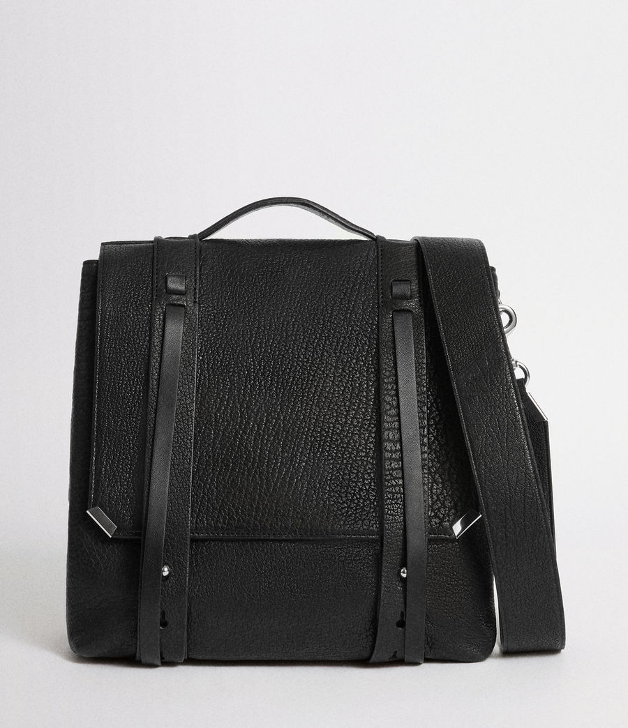 Womens Vincent Leather Backpack (black) - Image 1