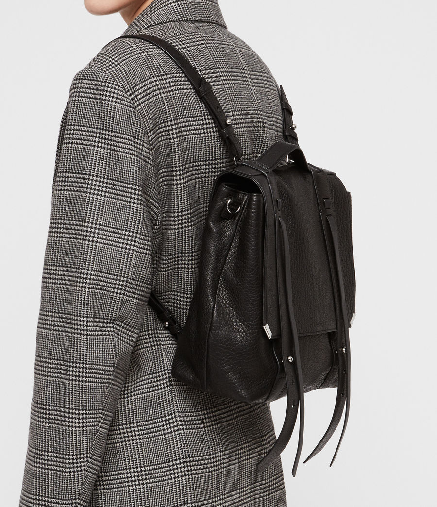 Womens Vincent Leather Backpack (black) - Image 3