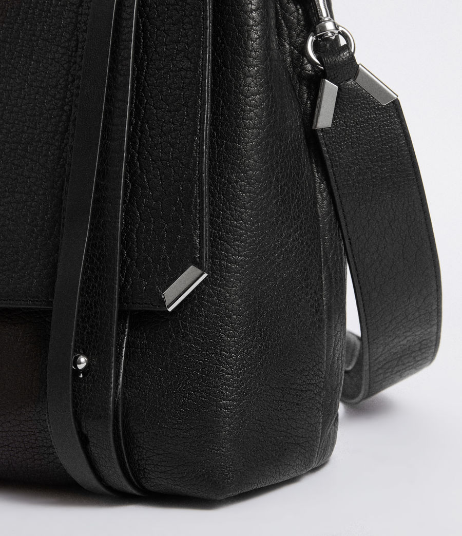 Womens Vincent Leather Backpack (black) - Image 4