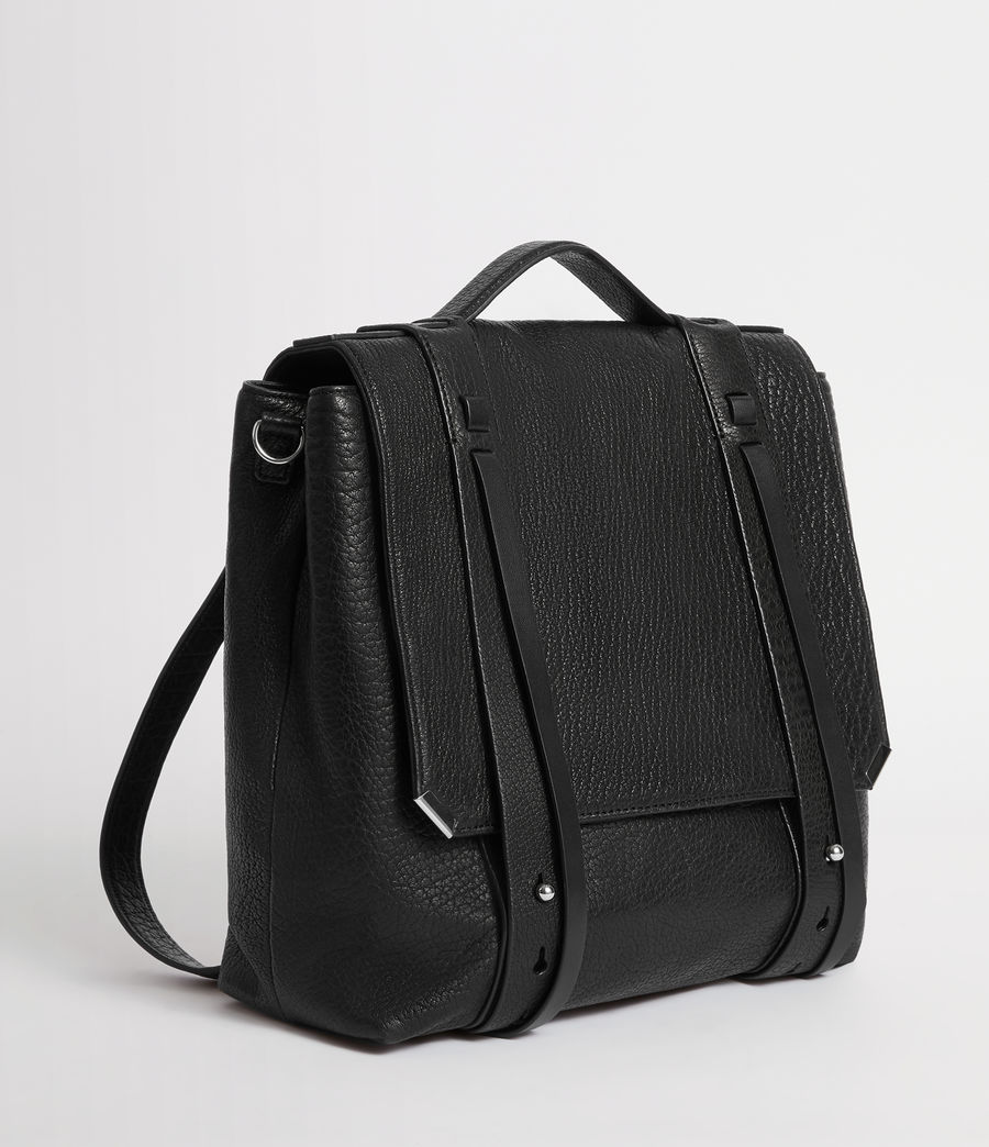 Womens Vincent Leather Backpack (black) - Image 5