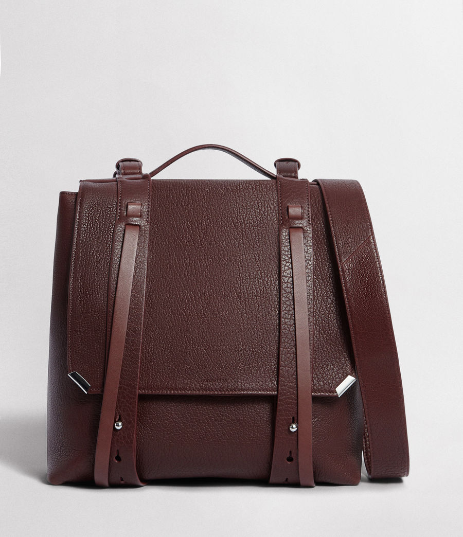 Womens Vincent Leather Backpack (port_burgundy) - Image 1