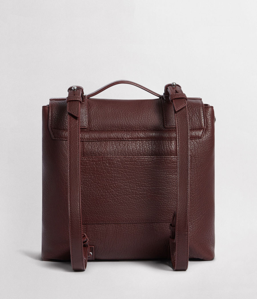 Womens Vincent Leather Backpack (port_burgundy) - Image 8