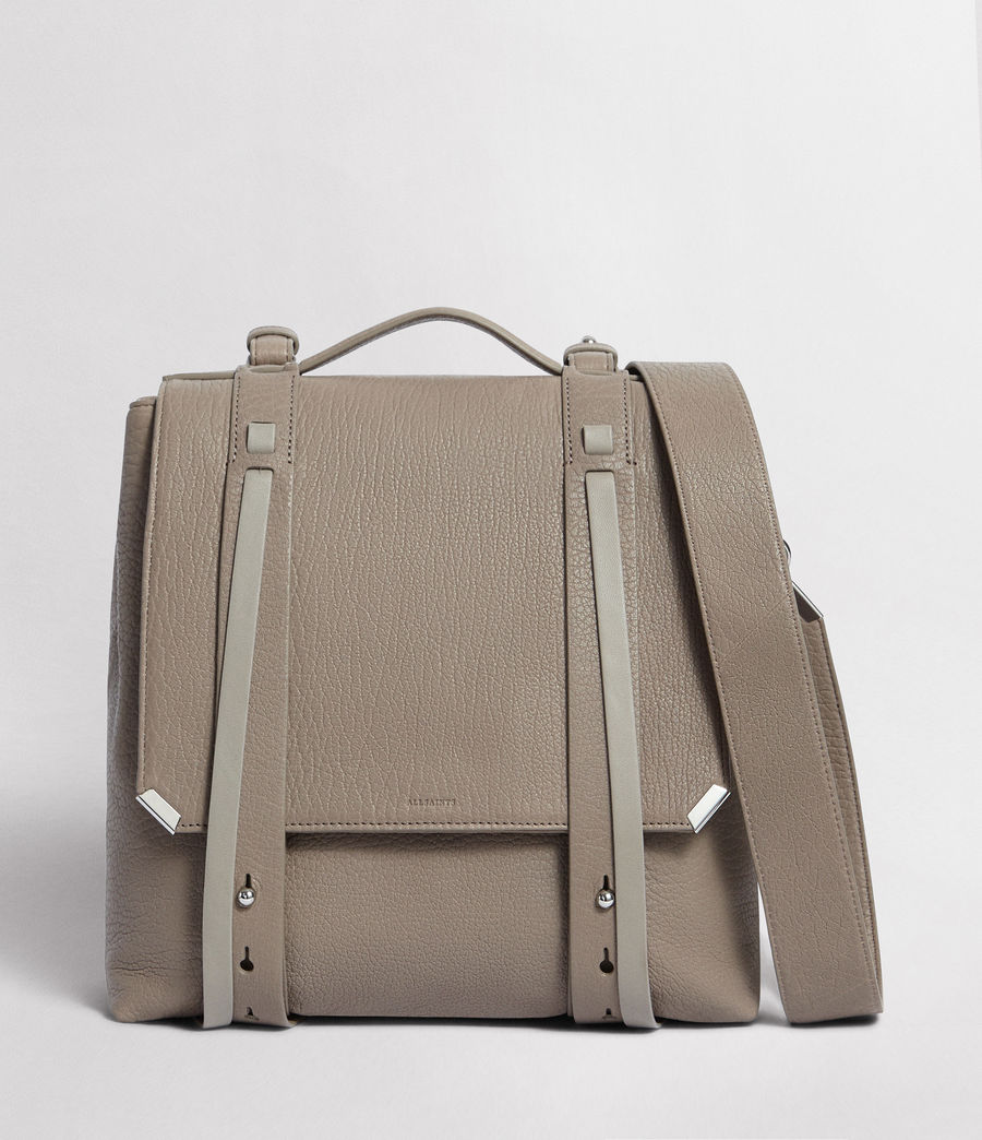 Womens Vincent Leather Backpack (natural_grey) - Image 1