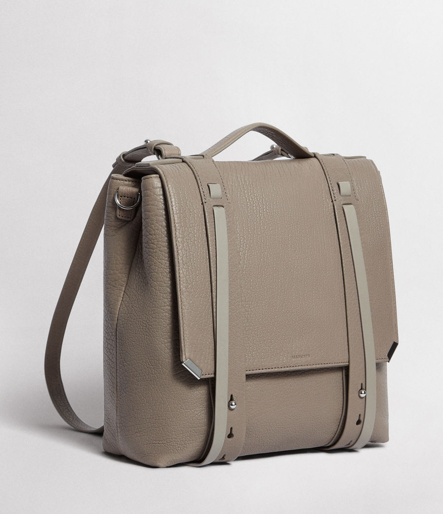 Womens Vincent Leather Backpack (natural_grey) - Image 5