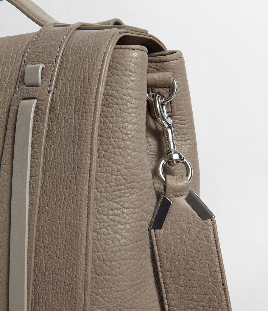 Women's Vincent Leather Backpack (natural_grey) - Image 6