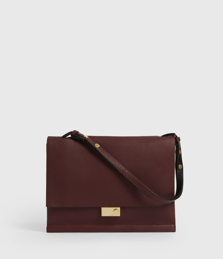 Womens Avery Leather Shoulder Bag (burnt_sienna_red) - Image 1