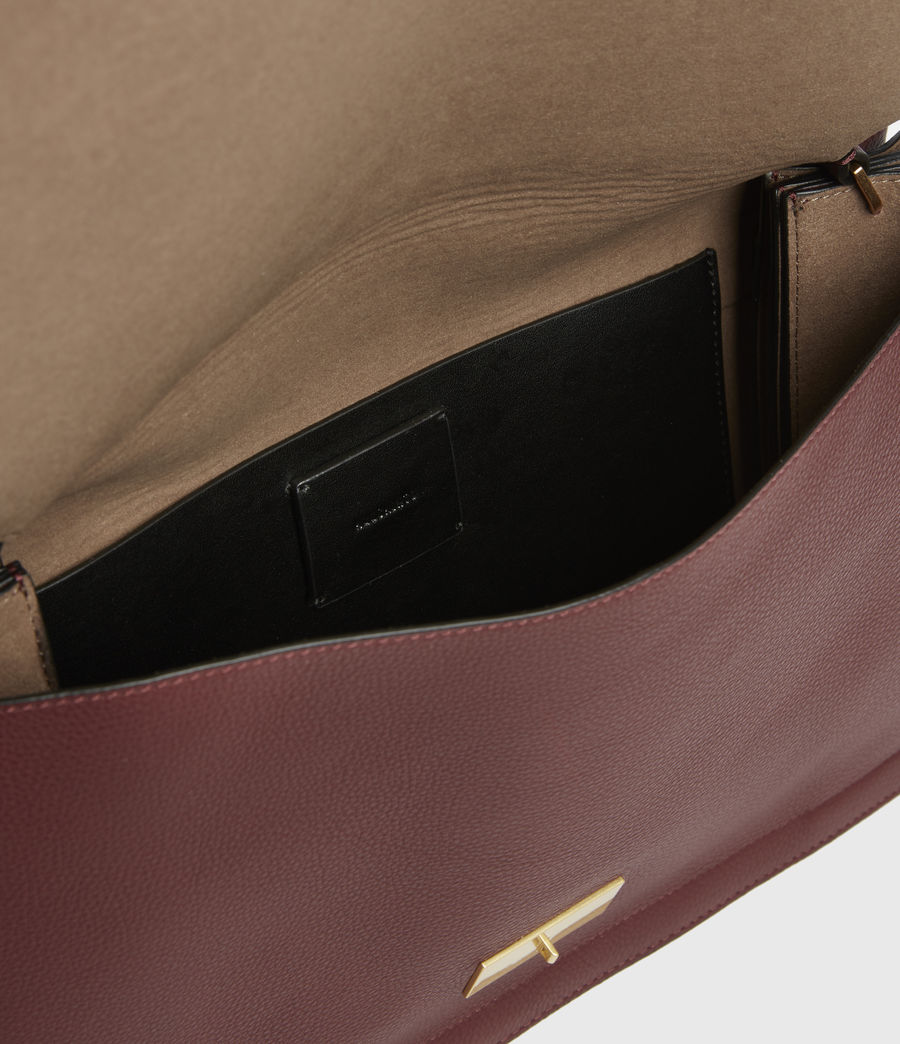 Womens Avery Leather Shoulder Bag (burnt_sienna_red) - Image 2