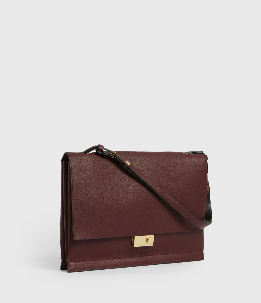 Womens Avery Leather Shoulder Bag (burnt_sienna_red) - Image 3