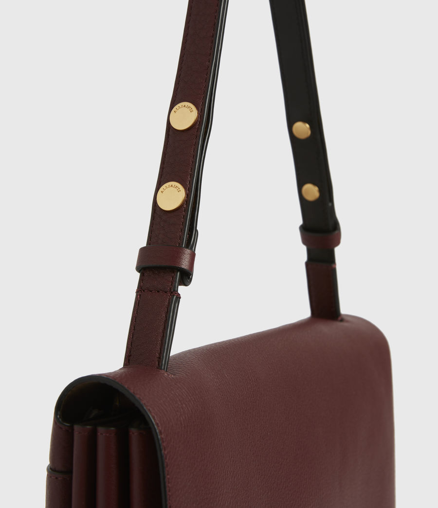 Womens Avery Leather Shoulder Bag (burnt_sienna_red) - Image 5