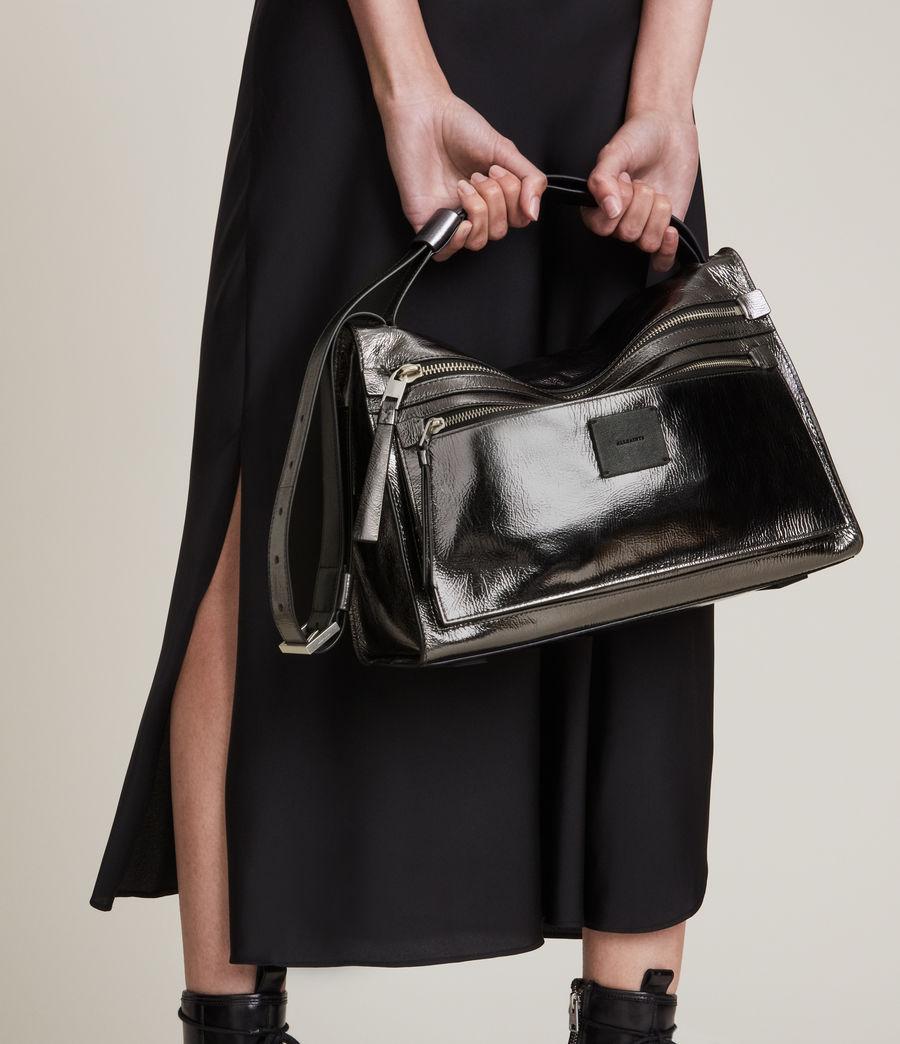 Womens Duro Leather Shoulder Bag (gunmetal) - Image 1