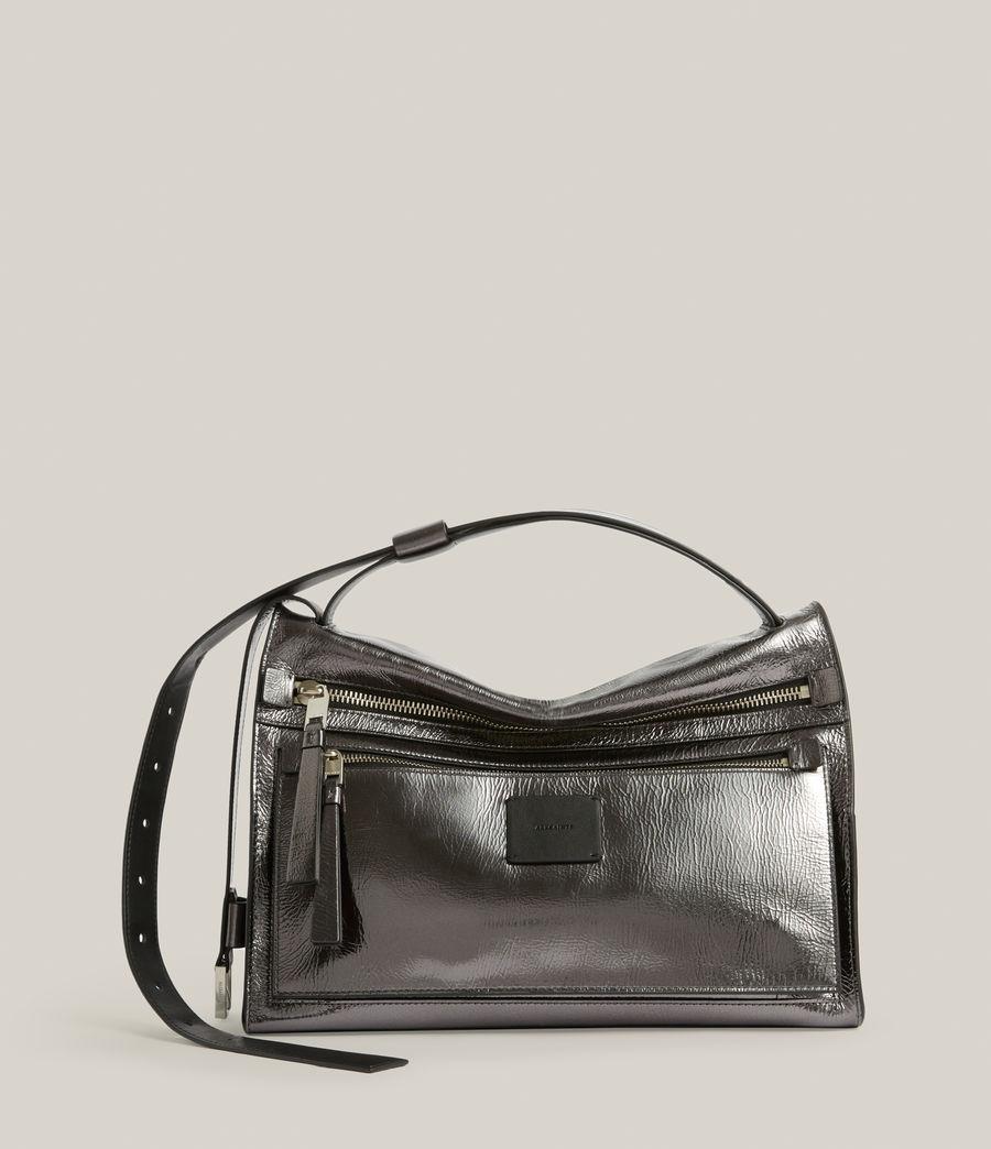Womens Duro Leather Shoulder Bag (gunmetal) - Image 2