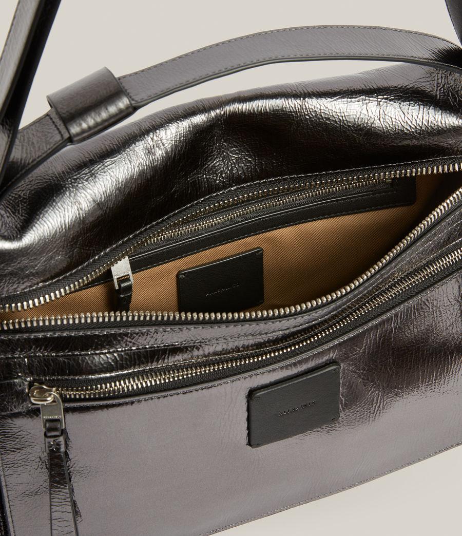 Womens Duro Leather Shoulder Bag (gunmetal) - Image 3