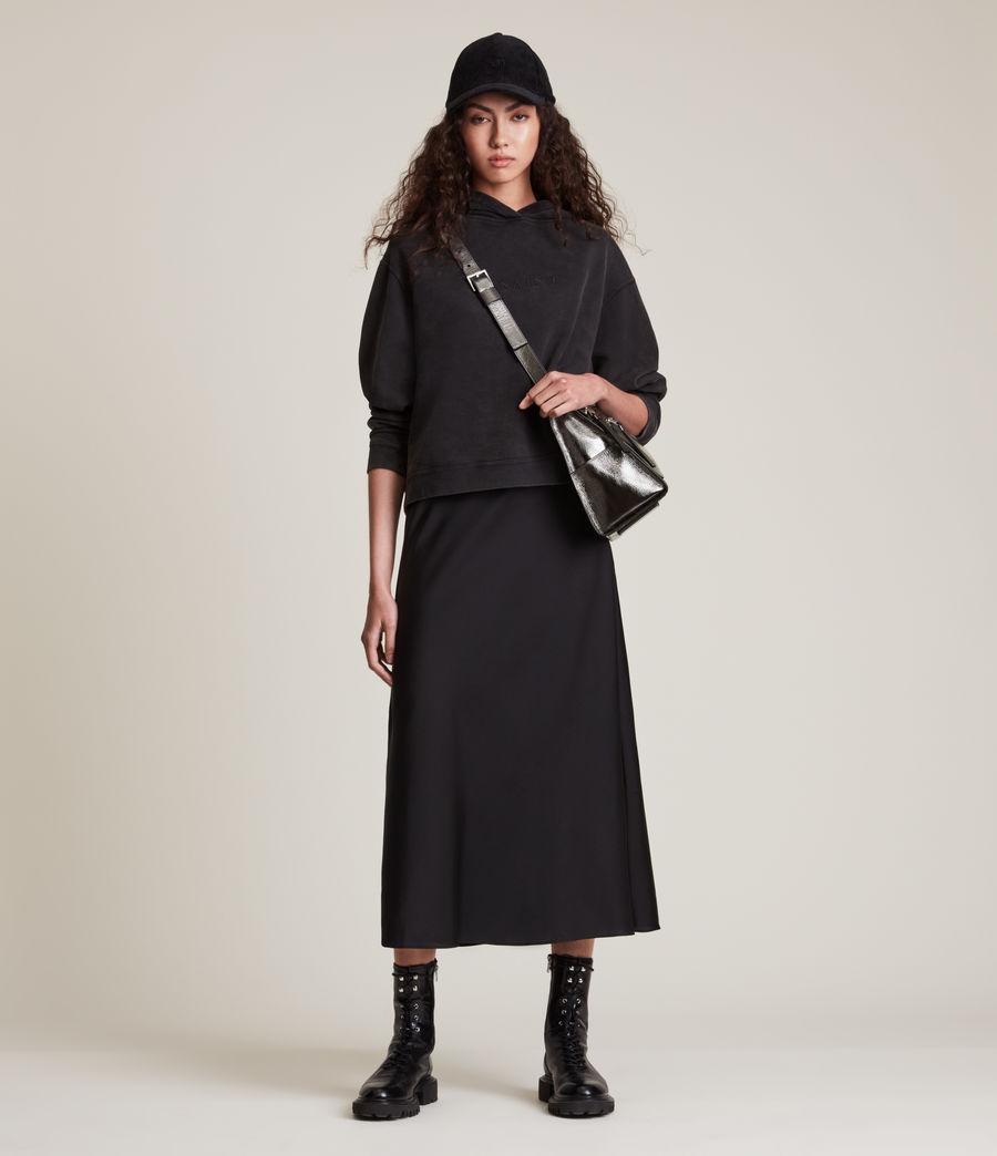Womens Duro Leather Shoulder Bag (gunmetal) - Image 4