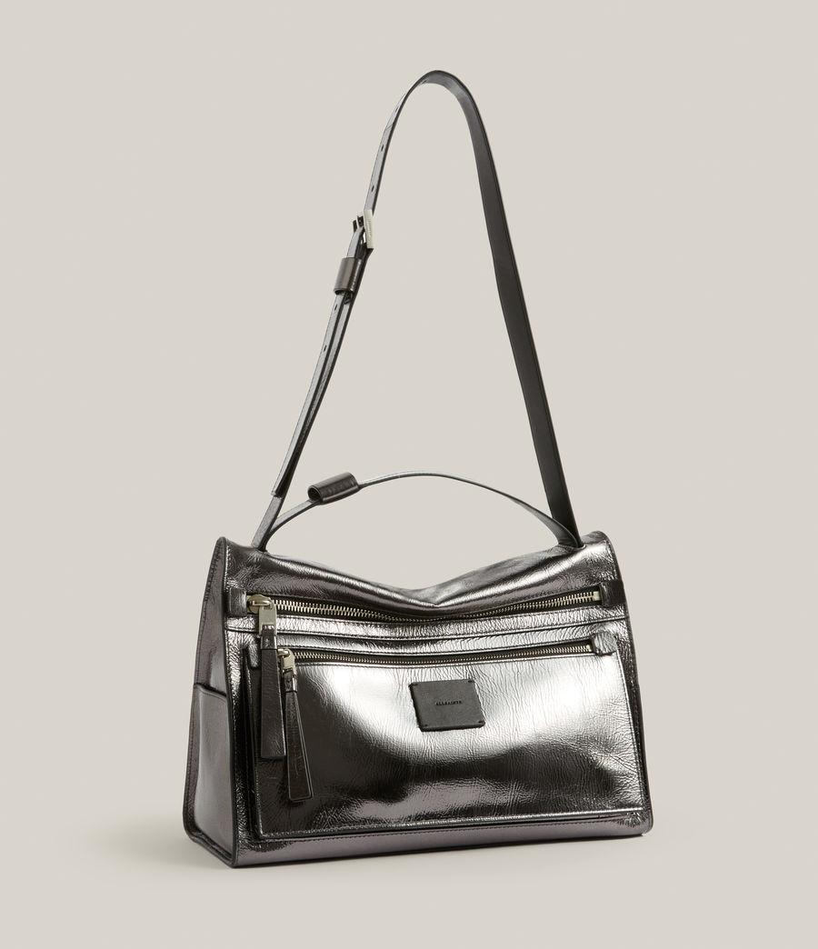 Womens Duro Leather Shoulder Bag (gunmetal) - Image 5