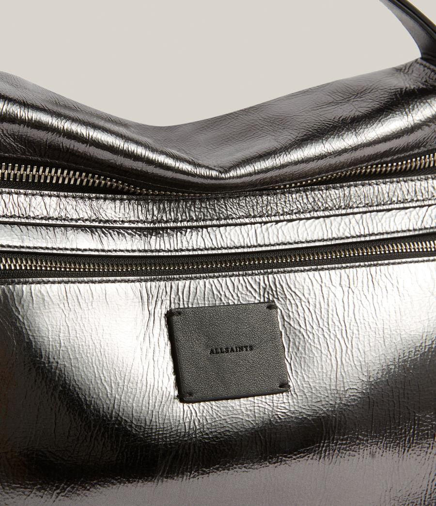 Womens Duro Leather Shoulder Bag (gunmetal) - Image 6