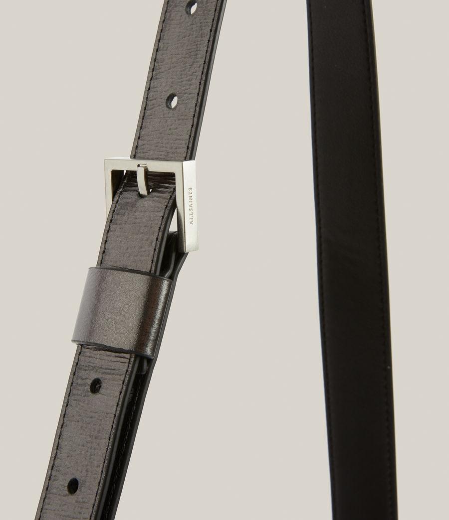 Womens Duro Leather Shoulder Bag (gunmetal) - Image 7
