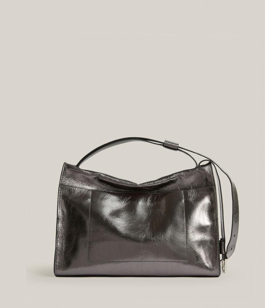 Womens Duro Leather Shoulder Bag (gunmetal) - Image 8