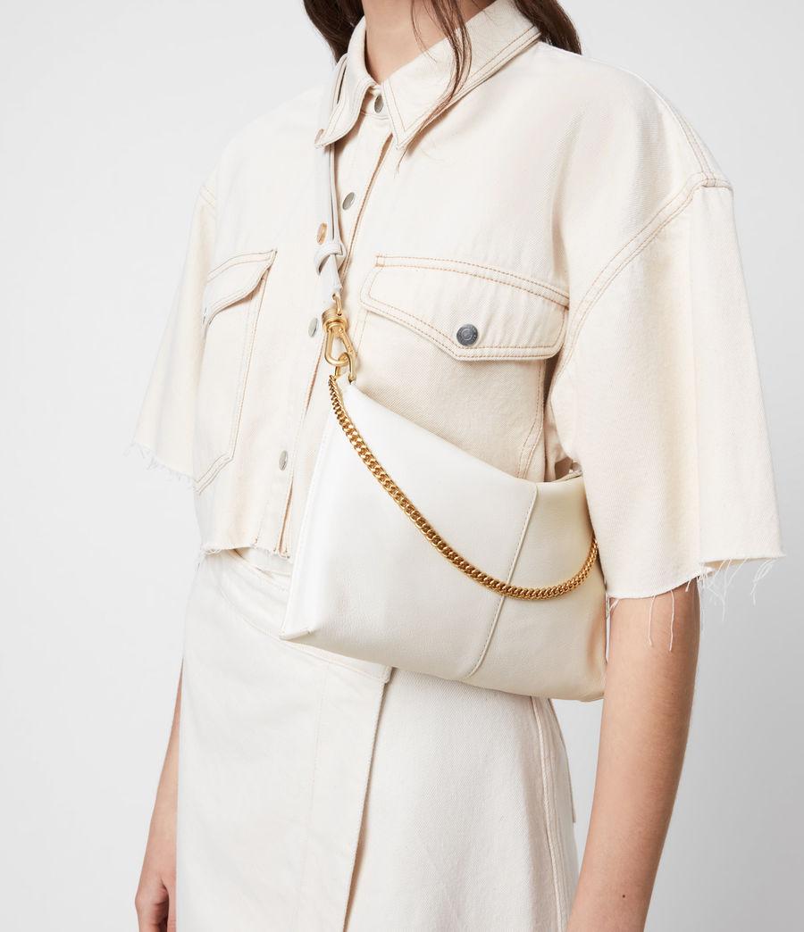 Womens Eve Leather Crossbody Bag (roe_white) - Image 2