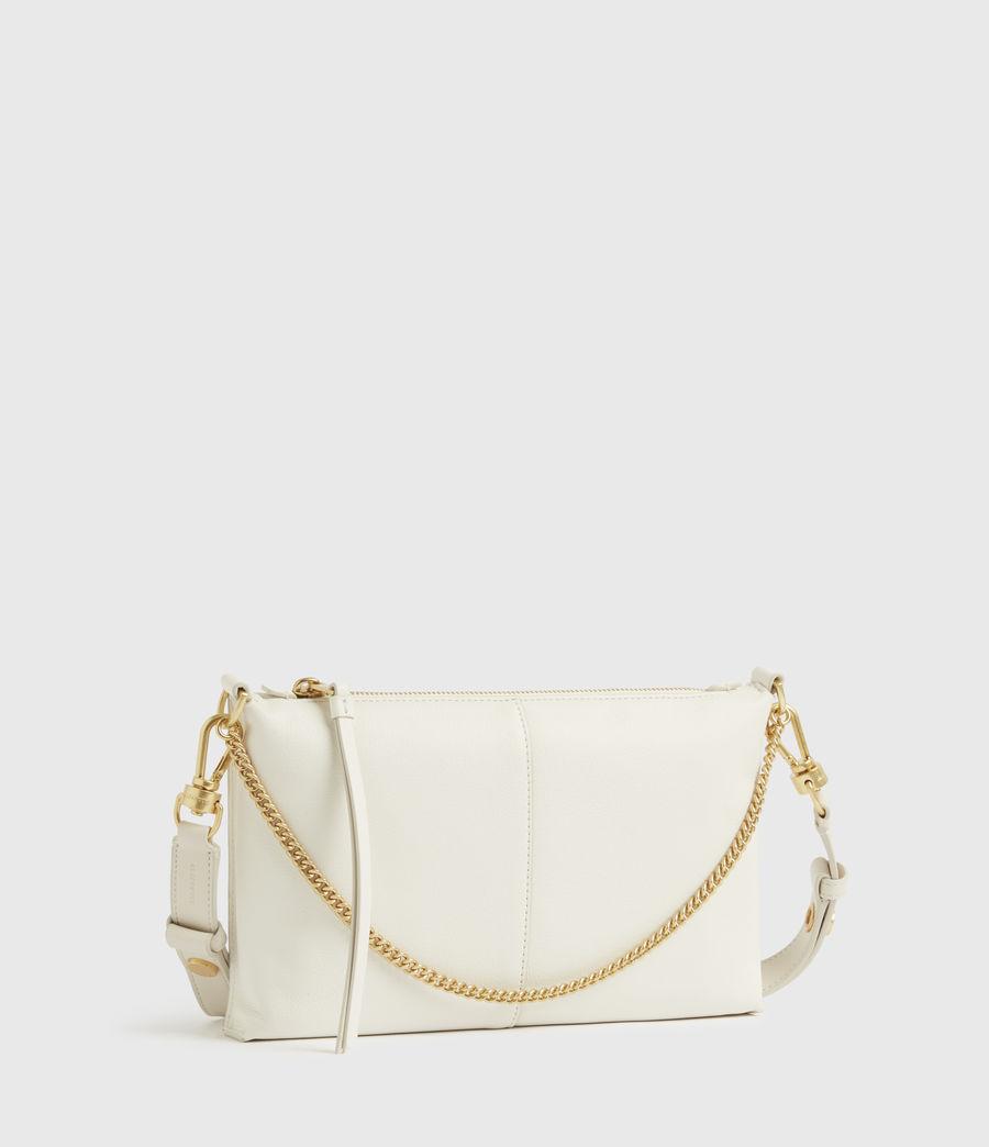 Womens Eve Leather Crossbody Bag (roe_white) - Image 4