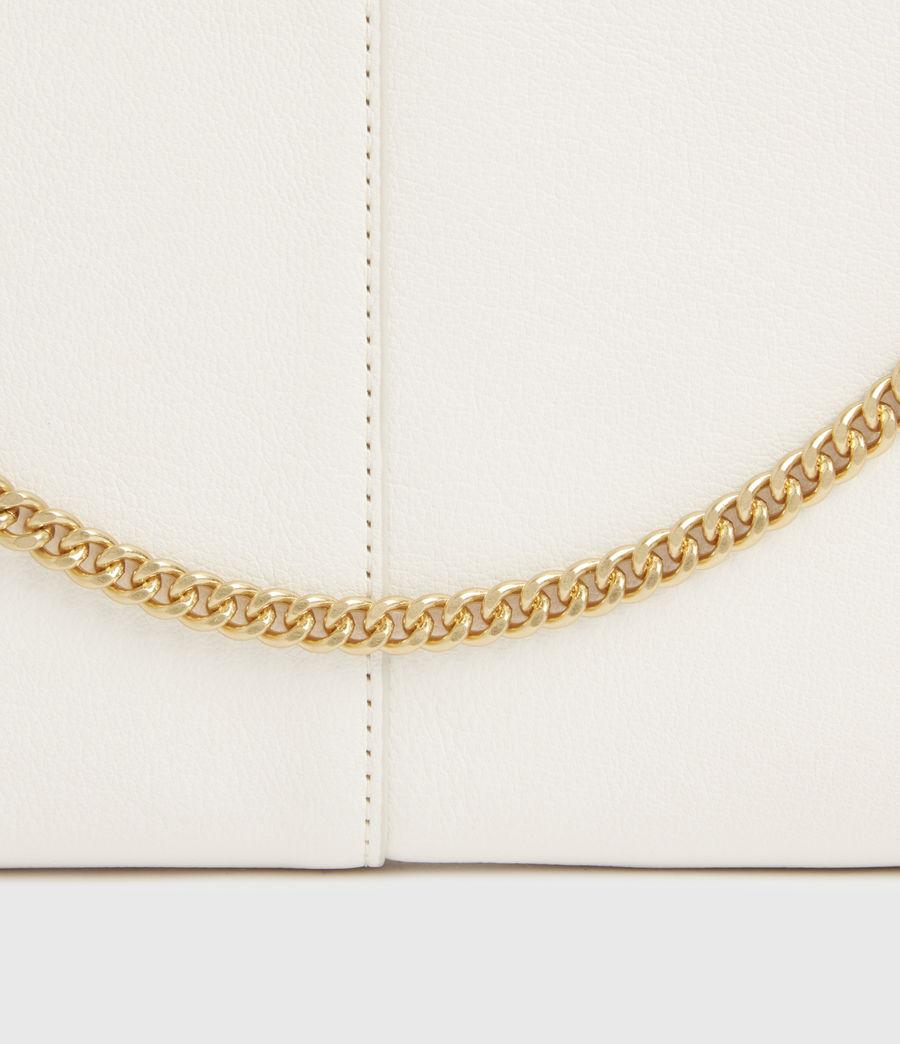 Womens Eve Leather Crossbody Bag (roe_white) - Image 6