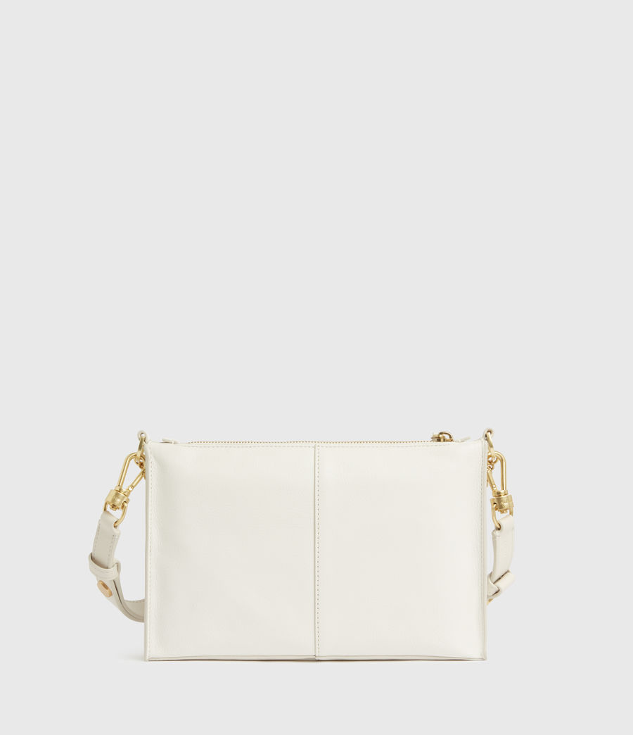 Womens Eve Leather Crossbody Bag (roe_white) - Image 7