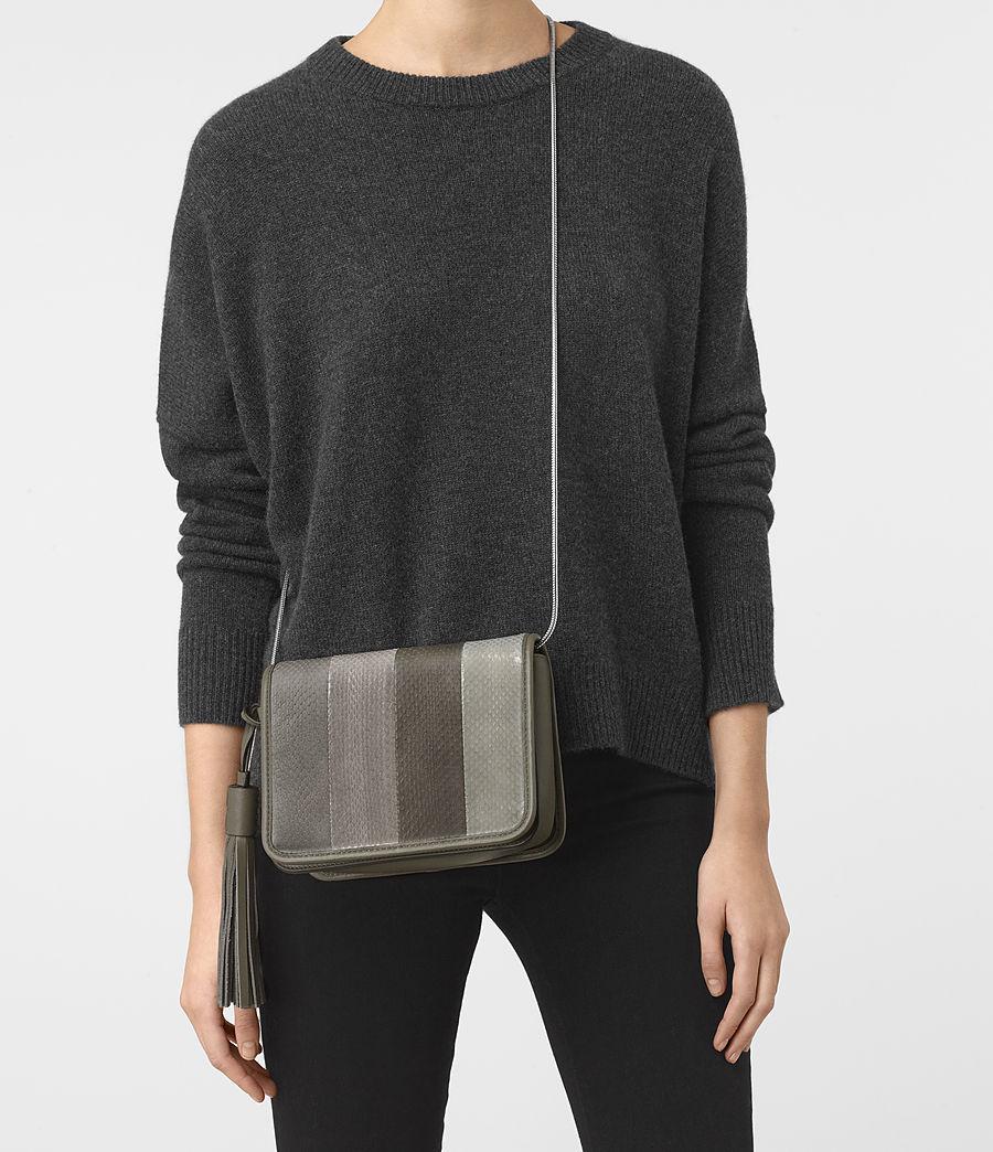 Women's Bansho Snake Shoulder Bag (mink_grey) - Image 7