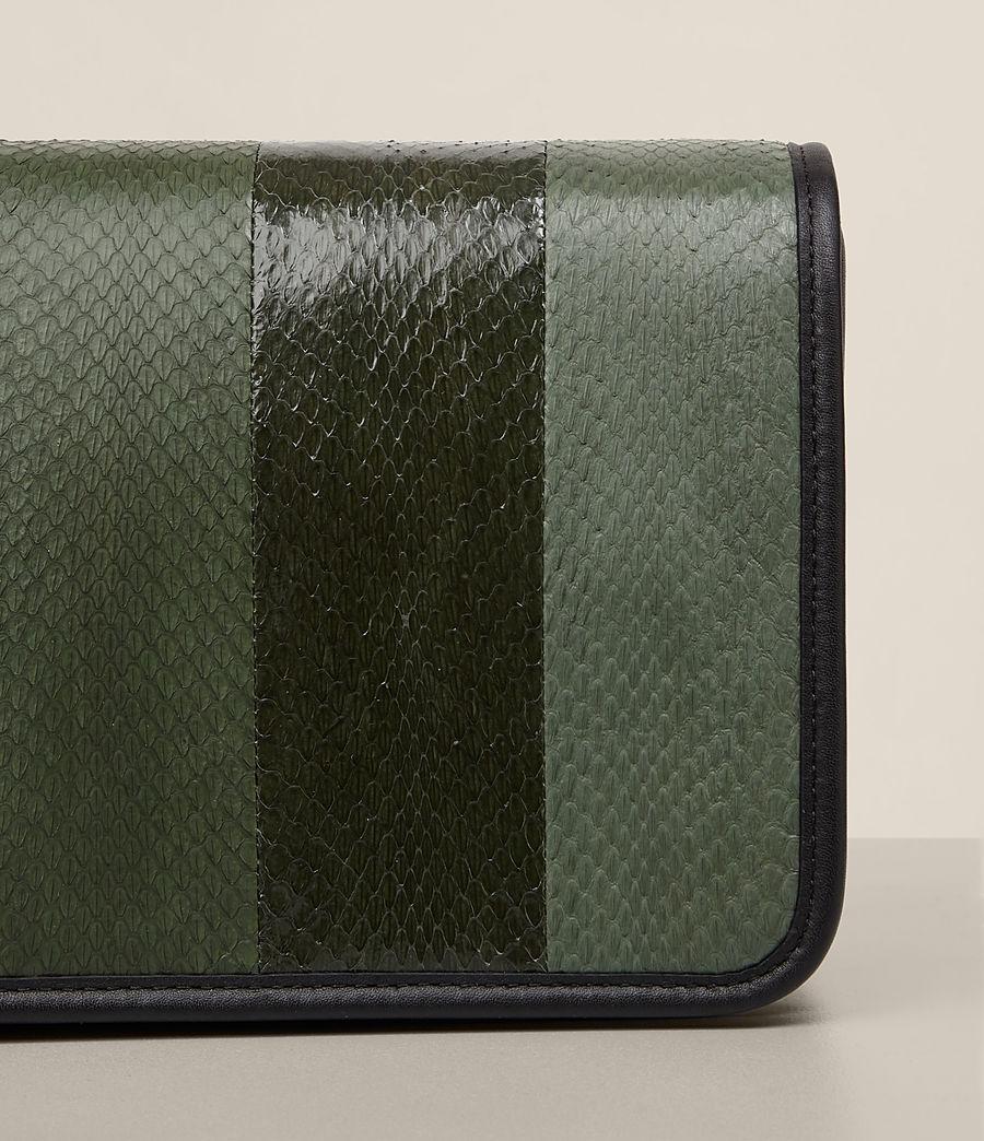 Women's Bansho Snake Shoulder Bag (forest_green_black) - Image 2