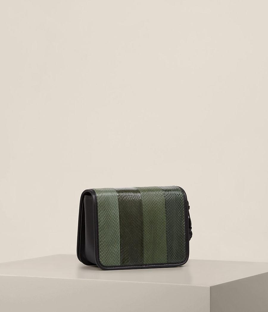 Women's Bansho Snake Shoulder Bag (forest_green_black) - Image 4