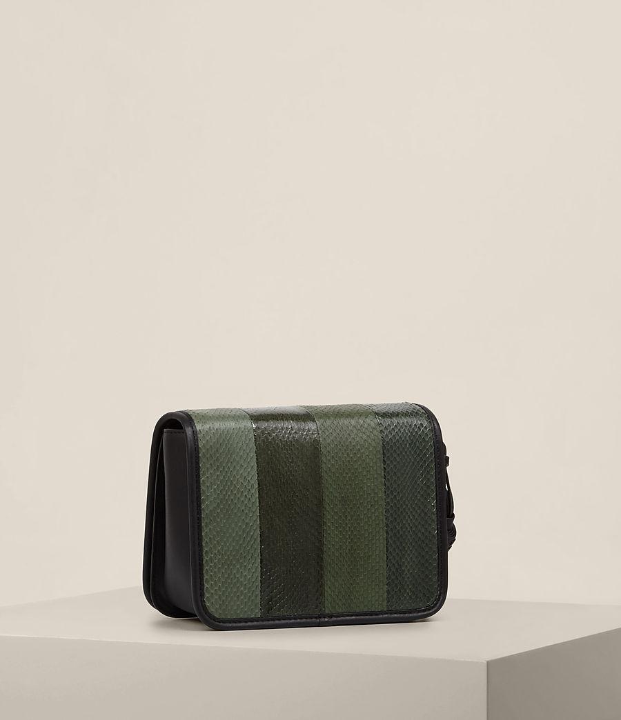 Women's Bansho Snake Shoulder Bag (forest_green_black) - Image 5