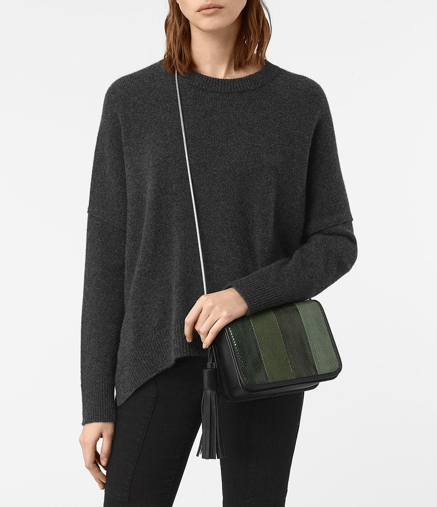 Women's Bansho Snake Shoulder Bag (forest_green_black) - Image 6