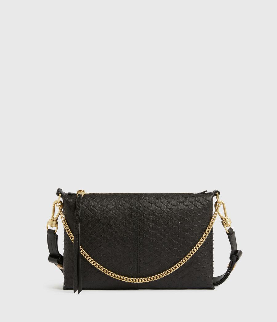 Women's Eve Leather Crossbody Bag (black_python) - Image 1