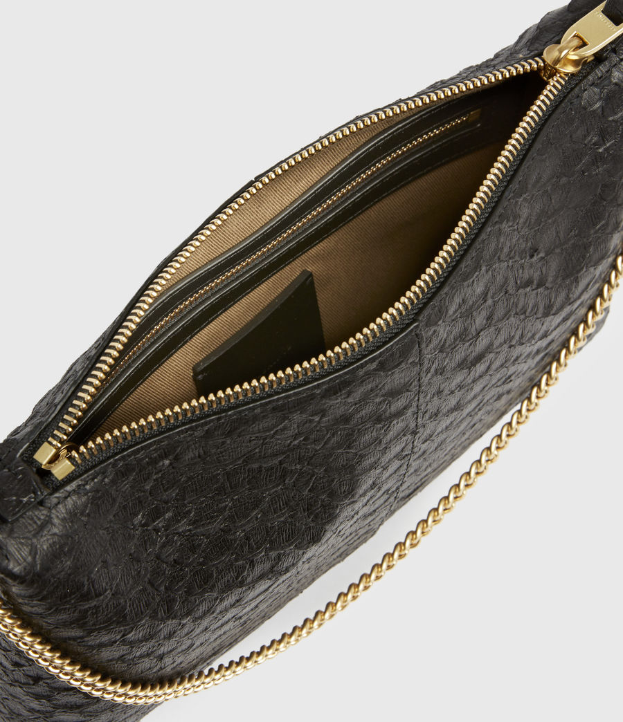 Women's Eve Leather Crossbody Bag (black_python) - Image 3